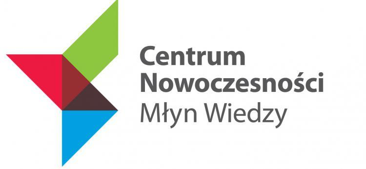 """logo Centrum Nowoczesności """"Młyn Wiedzy"""""""