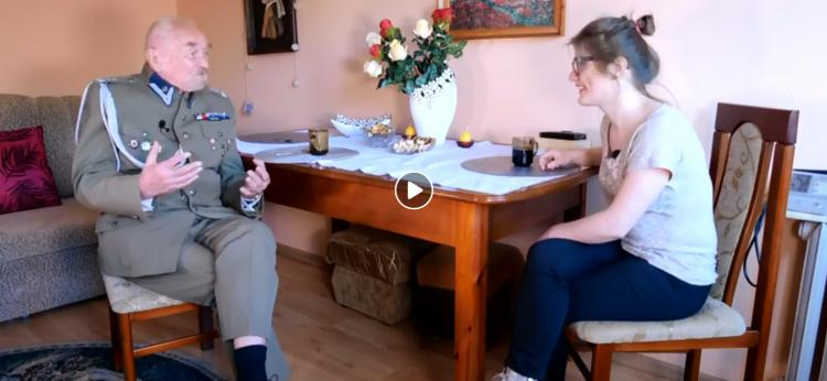 kadr z rozmowy z Mirosławem Łazowskim