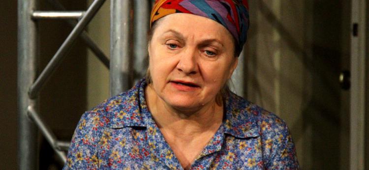 """Teresa Stępień-Nowicka w spektaklu """"Józef i Maria"""""""