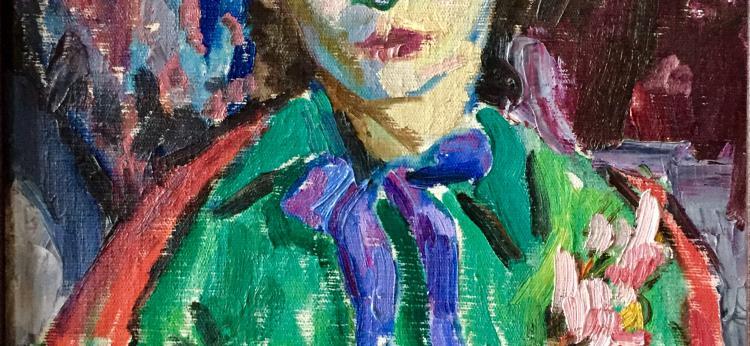 Róża (córka Nechamy Lifshitz's), 1957, olej na płótnie