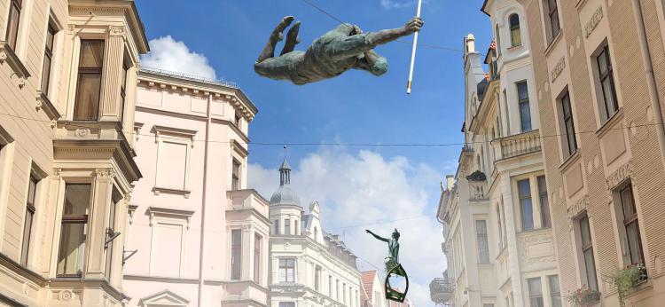 wizualizacja rzeźb przy ul. Szerokiej